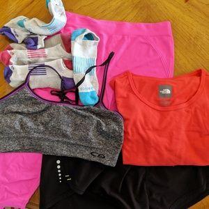 Bundle of Exercise Gear   sports bra, shorts, etc